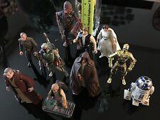 Star Wars 13 Action Figures LOT Old Anakin Skywalker, Princess Leia, Boba Fett