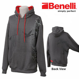 """Benelli Goose Down Hoodie Graphite 93300 LG-42-44"""" Chest"""