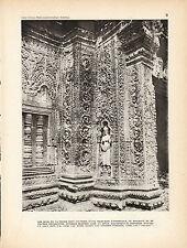 Publicité ancienne Indochine 1930 les murs de Ta Prohm issue du livre ancien