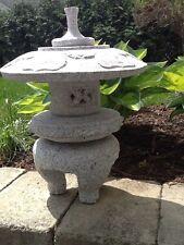 Maru Yukimi Japanese  Carved Granite Garden Lantern Stone pagoda