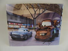CARS MATER LARRY THE CABLE GUY Signed 11x14 color photograph