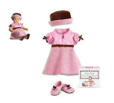 "American Girl BITTY BABY  PRETTY & PINK DRESS for 15"" Baby Doll NEW in Box"