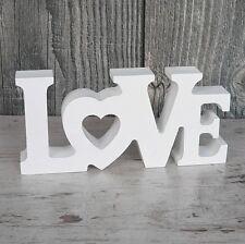 Schriftzug LOVE aus Holz 14cm weiß Buchstaben Wanddeko Holzschild Hochzeit NEU