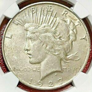 1927-D PEACE DOLLAR NGC AU