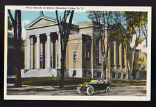 UTICA NEW YORK NY First Church of Christ Scientist Old Car Vintage Postcard