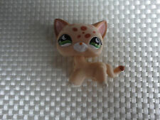 Littlest Pet Shop 852 Cream & Orange Short Hair Spotted Cheetah Kitty Cat CHAT #