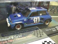 RENAULT 5 Turbo Saby TdC Tour de Corse 1980 #18  Rallye IXO Altaya RARE 1:43