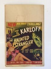 "*Original / 1958* Boris Karloff ""The Haunted Strangler"" Movie Poster"