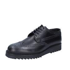 scarpe uomo SALVO BARONE 42 EU classiche nero pelle BZ178-D