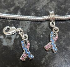 Miscarriage baby loss stillborn awareness ribbon European Charm or Clip On