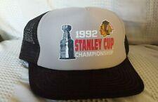 CHICAGO BLACKHAWKS 1992 STANLEY CUP CHAMPIONSHIP snapback mesh hat (VINTAGE CAP)