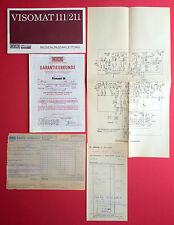 Bedienungsanleitung VISOMAT 111/211 Fernseher mit Garantieurkunde 1975 ( F14259