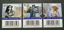 2000 New Zealand Queen Mother 100 Years 3v Stamps (barcode tabs) Mint NH
