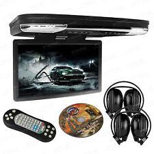 "HDMI Coach Bus Roof 15"" LCD Car Monitor Flip Down DVD Player USB 1080P Headsets"