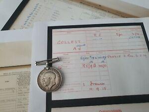 WW1 British War Medal to Sapper Collett, Royal Engineers