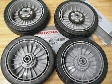 GENUINE HONDA LAWNMOWER WHEELS 2 FRONT 44710-VG3-000 & 2 REAR 42710-VE2-M01ZE