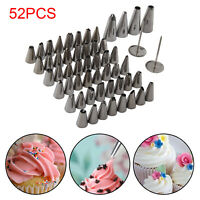 52 Pieces Icing Piping Nozzle Set Tool Box - Cupcake Cake Sugarcraft Decoration
