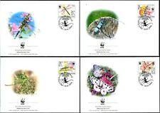 SERBIA - 2004 WWF 'INSECTS OF SERBIA' First Day Covers x 4 [B1318]