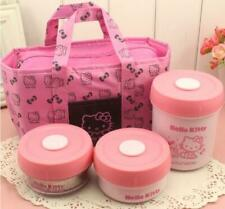 4 In 1 Set With Insulation Bag Cute Hello Kitty Stainless Steel Lunch Bento Box
