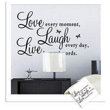 Love Laugh Live Wall Quote Sayings Sticker Removable Art Decal Home Office Decor