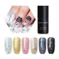 6ml NICOLE DIARY Nail UV Gel Polish Holographic Glitter Flakes Soak Off Nail Art