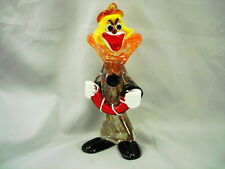 MURANO CLOWN ACCORDION PLAYER 7 7/8 IN. TALL - METAL FLAKES - ITALY, BAND READY!