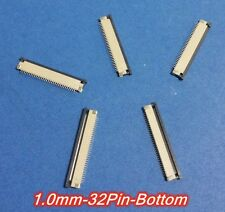 FFC/FPC Connector 32Pin Pitch 1.0mm Bottom Contact Pick Drawing Socket