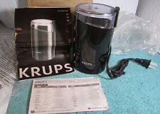 KRUPS F203 Electric Spice & Coffee Grinder with Stainless Steel Blades, 3-Ounce