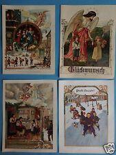 4x New Year Greeting LITHO LETTER Bay Primary School Teachers Association Huber Jordan Grain ~ 1900