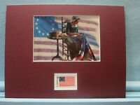 Betsy Ross sews the First U.S. Flag & Betsy Ross Flag stamp