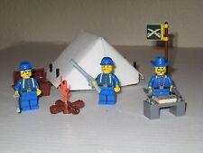 Lego Custom WESTERN AMERICAN CIVIL WAR UNION BASECAMP w/ 3 Soldiers Minifigs