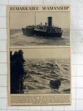 1940 Remarkable Seamanship  Captain & Crew  Liverpool Tanker San Alberto