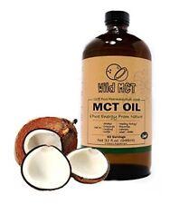 MCT Oil C8/C10 Blend 32oz Glass Bottle - Pharmaceutical Grade by Wild Foods
