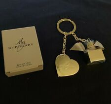 Burberry Heart & Perfume Bottle Key Chain - Authentic Key ring with Box