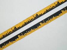 3m Webband Ripsband Borten Label Aufnäher Meterware Skyline Berlin Schmuckband