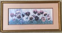 Carmel Foret Pansy Floral Landscape Print Numbered and Signed 1986