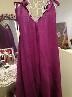 PURPLE OVERALL JUMPSUIT  BOHO RAYON  fits Size 8,10,12,14,16,18, 20, 22