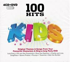 100 HITS KIDS - VARIOUS ARTISTS (NEW SEALED 4CD + DVD )
