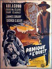 Affiche PANIQUE A L'OUEST Brazen Bell LEE J. COBB James Sheldon WESTERN 60x80