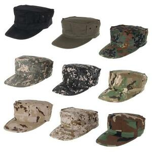 Mens Military Octagon Hat Army Ranger RipStop Soldier Combat Cap Camouflage Hats