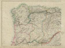 IBERIA NW. Galicia Asturias Oporto Leon Santander Castille. WELLER 1862 map