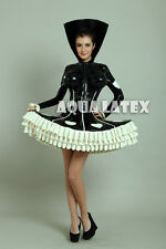 Full Set Lolita Rubber Latex Dress Inflatable Breasts Hooded Fashion Latex Dress