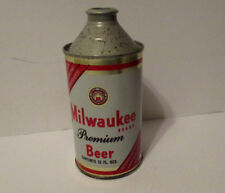 Vtg 1970's Milwaukee Cone Top Beer Can Advertising Waukee Brewing Hammonton Nj