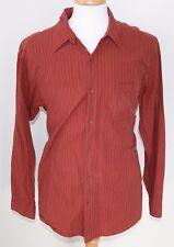 The North Face men's L Orange Red color L/S button shirt Comfortable Ski Casual