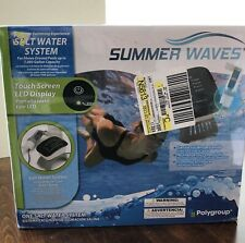 Summer Waves Salt Water System for Above Ground Pools, Touch LED Display 7000gal