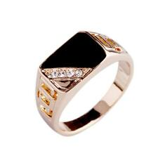 Decor Round Ring Hot nice gift Fashion 1Pc Men Rhinestone Stone Hollow Out