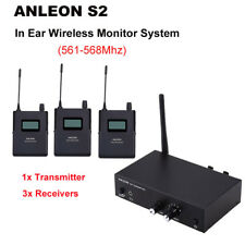 ANLEON S2 Personal In Ear Monitor 1xTransmitter+3xReceivers IEM Stage 561-568Mhz