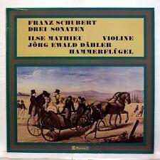 ILSE MATHIEU, JE DAHLER - SCHUBERT 3 sonatas CLAVES LP NM