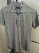 Diesel Co Men's Short Sleeve Polo Golf Shirt Solid Gray Size Small 100% Cotton