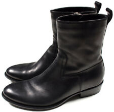 DIOR HOMME AW07 boots BLACK leather £1250 43 UK 9 GRAIL hedi SLIMANE goodyear
